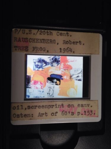 "Robert Rauschenberg /""Tree Frog 1964/"" Pop Art 35mm Glass Slide"