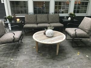 Image Is Loading Vintage Meadowcraft Wrought Iron Patio Furniture Updated And