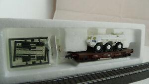 Roco 46758 Schwerlastwagen mit Radpanzer Fuchs UN  DB  DJ 208 Neuwertig OVP