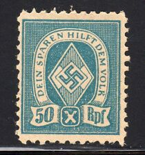 WWII NAZI GERMANY PROPAGANDA CHARITY LABEL MINT Hinged SCARCE 50RPF