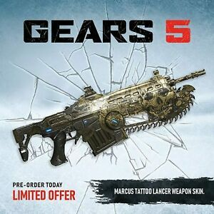 Gears-of-War-5-Marcus-Tattoo-Lancer-Weapon-Skin-DLC-Key-Code-XBOX-ONE