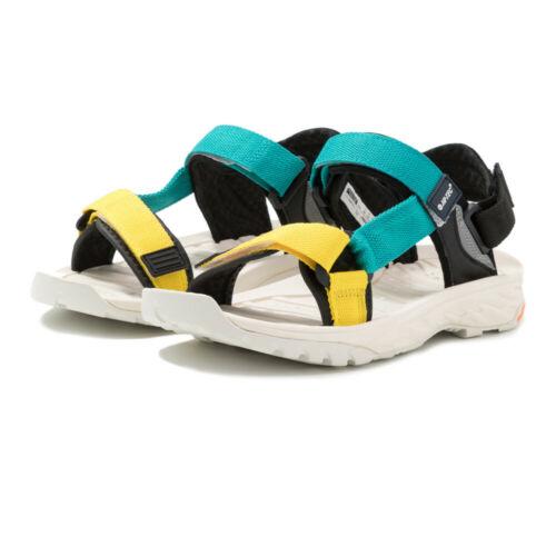 Hi-Tec Homme Ula radeau Chaussures De Marche Sandales Blanc Vert Jaune Sports Outdoors