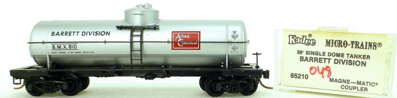 Micro Trains Linea 65210 Barrett Bmx 810 39' Individual Domo Coche Tanque 1 160
