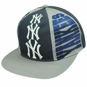 edcbb2f34 Details about MLB New York Yankees Old School Snapback Vintage Triple  Threat Hat Cap