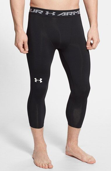 97f3abec27d24 Mens Under Armour UA HeatGear 3 4 Leggings Compression White XL 1264005 for  sale online