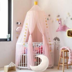 Kids Baby Lit Baldaquin Lit Moustiquaire Princess Rideau Literie Dôme Tente AA