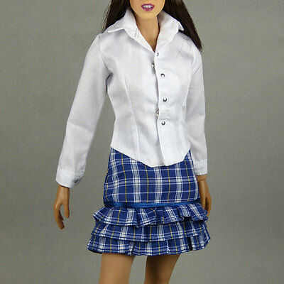 1//6 Scale Phicen Kumik /& NT Female White Shirt /& Black Skirt Set Hot Toys