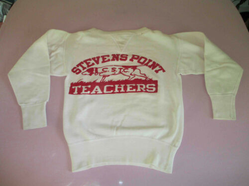 Vintage 1940s Women's Teacher Sweatshirt Wisconsin