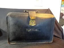 Old Vtg Leather Doctors Reverend Bag Satchel Brief Suit Case Luggage