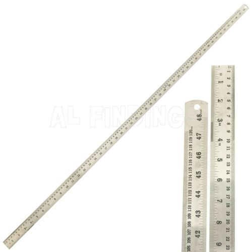 """48/"""" 120 Cm Acero Inoxidable Metal Regla métrico /& imperial tamaños de marcas de doble"""