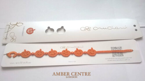 Original Hecho Italiano Cruciani bracelet-pumpkin-halloween-orange Edición Limitada!