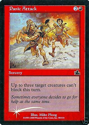 MTG Prophecy Panic Attack Foil 2X NM