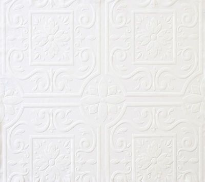 Faux Tin Ceiling Tile Textured Paintable Wallpaper FD59000 / 497-59000