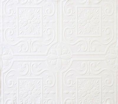 Faux Tin Ceiling Tile Textured Paintable Wallpaper FD59000 / 497-59000