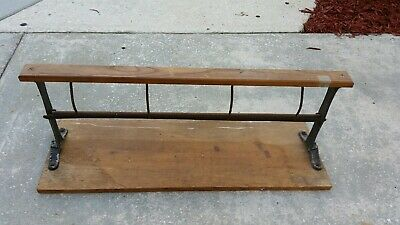 "Antique Vintage 13"" Paper Dispenser Cutter Roll General Country Store Butcher"