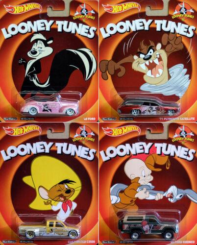 Looney Tunes set 4 modelo coches 2014 Pop Culture en 1:64 Hot Wheels x8308