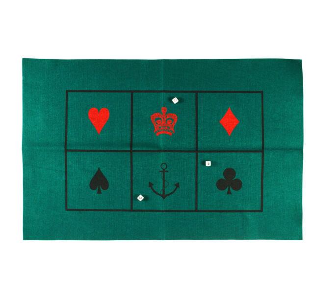 Crown and Anchor / chuck-a-luck - Baize Mat & Dice Set