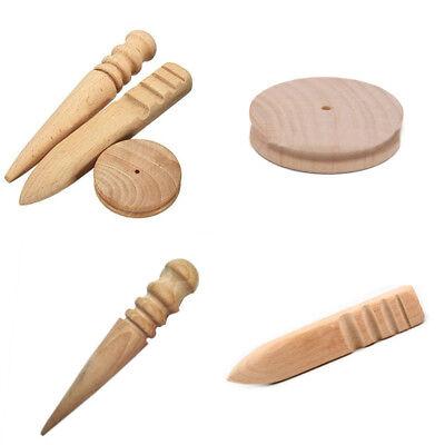7 Sizes Useful Leathercraft Burnisher Wood Edge Leather Slicker Wood Edge Tools
