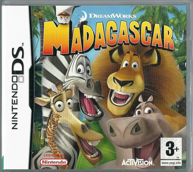 Dreamworks Madagascar for Nintendo DS  (plays 3ds 2ds in 2D) kids games