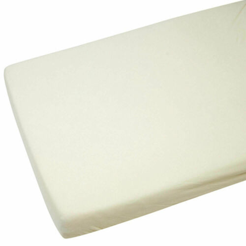 Cream 2x Fitted Sheets Compatible With Chicco Next 2 Me 100/% Cotton