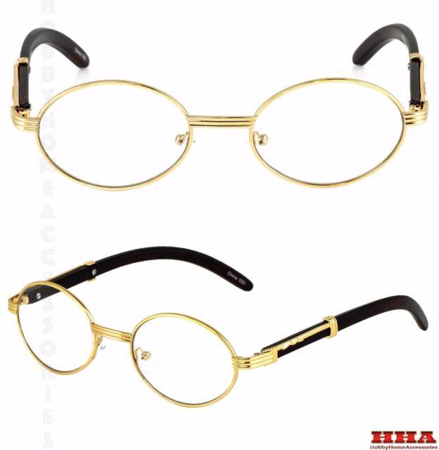 f3bf21dd454 Elite Wood Art Clear Lens Eyeglasses Unisex Vintage Fashion Oval Frame  Glasses 2