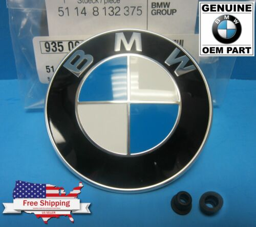 GENUINE 82mm BMW Hood Trunk Emblem Roundel w// Grommets INC. OEM# 51148132375