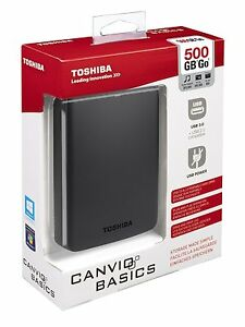 Disco-Duro-Externo-2-5-039-039-500GB-USB-3-0-PS4-Toshiba-Canvio-Basics-500-GB-HD-Disk