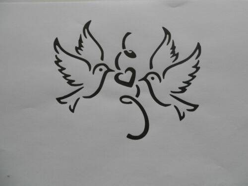 Schablone Tauben Love auf A4