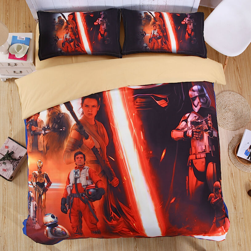 Star Wars Set Letto Copripiumone Lenzuolo Federa Duvet Cover Set DUVSW03