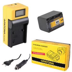 Batteria Patona + caricabatteria Synchron LCD USB per Sony HDR-CX510E,HDR-CX520