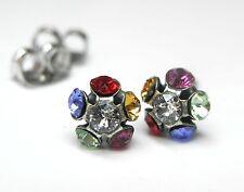 NEU OHRSTECKER mit SWAROVSKI STEINE multicolor/crystal/kristallklar OHRRINGE