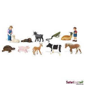Petting Zoo Toob/toob/safari Ltd/goat/toy/pig/cow/lamb/llama/bunny