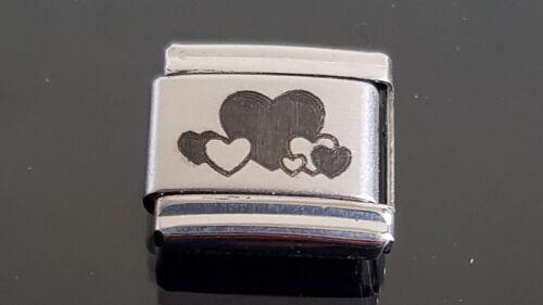 Hearts Italian Charm Bracelet Charms Link Charm
