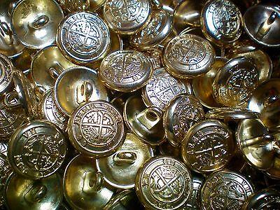 15mm 20mm Antique Silver Effect Metal Regal Coat of Arms Shank Button XM58A-B