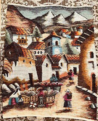 Peruvian Peru Wool Tapestry Hand Woven Art Collection Wall Hanging 34 X 37 Ebay