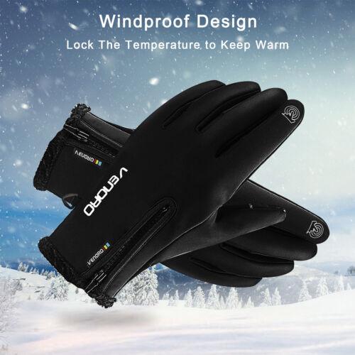 10℃ Men Women Winter Thermal Touch Screen Gloves Ski Waterproof Outdoor Sports
