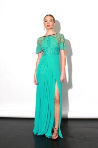 Raina Embellished Virgos Party Cocktail Wedding Bridal Lounge Green Maxi Dress wvxqxRUn