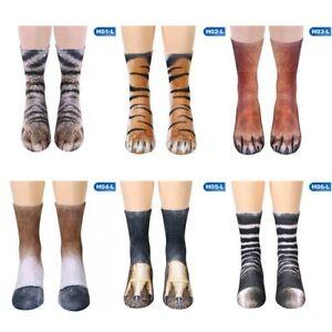 Funny-3D-Print-Crew-Socks-Unisex-Adult-Kids-Cat-Claws-Animal-Paw-Slipper-So-9Gu