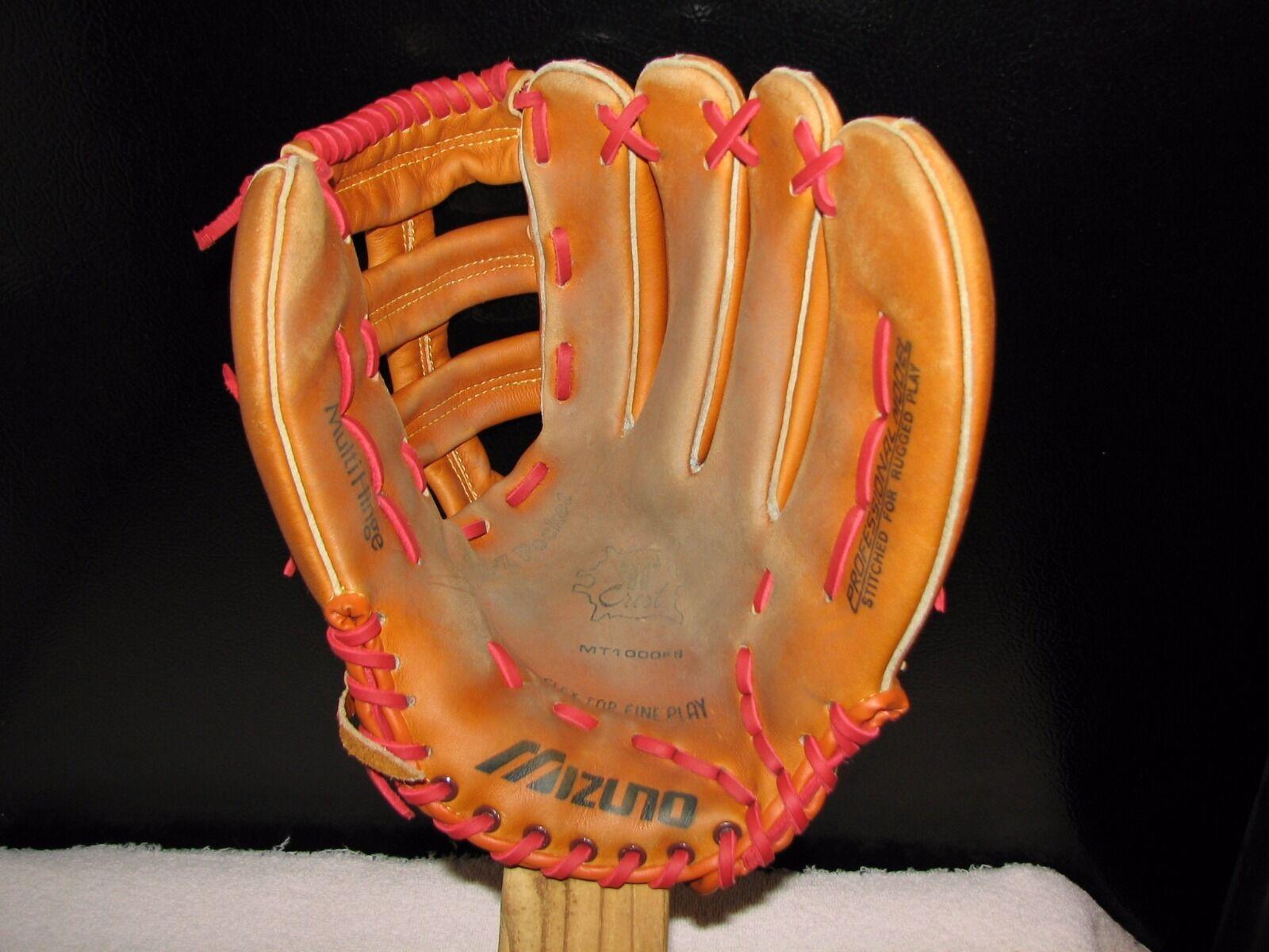 """MIZUNO glove, MT1000FB, 13"""" Pelle ball glove, MIZUNO newly re-laced 9b2659"""