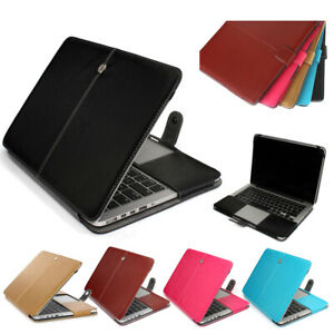 low priced 13b15 cd767 Details about PU Leather Sleeve Case Skin Cover for Apple MacBook Pro Air  11 13