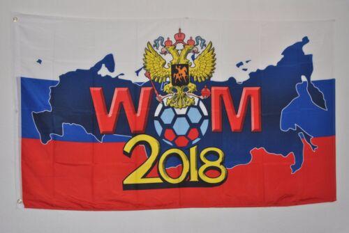 FAHNE 3869 FUSSBALL WELTMEISTERSCHAFT 2018 RUSSLAND FLAGGE mit ADLER WM 2018
