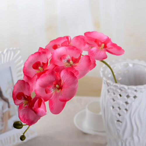 Beautiful Butterfly Orchid Silk Flower Home Wedding Party Phalaenopsis Bouquet N