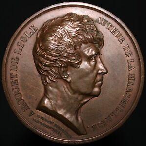 1833-Rouget-De-Lisle-Auteur-De-La-Marseillaise-Medal-Copper-KM-Coins