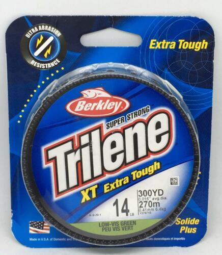Berkley Trilene XT Extra Tough Low-Vis Green Fishing Line 8 lb 14 lb 20 lb