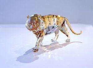 Swarovski-2010-SCS-Annual-Edition-Tiger-Golden-Crystal-1003148-Brand-New-In-Box