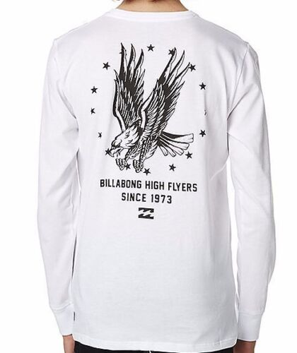 Men/'s Billabong High Flyer White Long Sleeved Tee RRP $59.99 2XL Size L NWT