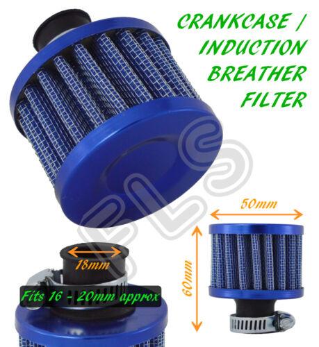 UNIVERSAL OIL MINI BREATHER AIR FILTER-FUEL CRANKCASE ENGINE CAR-BLUE–Lexus