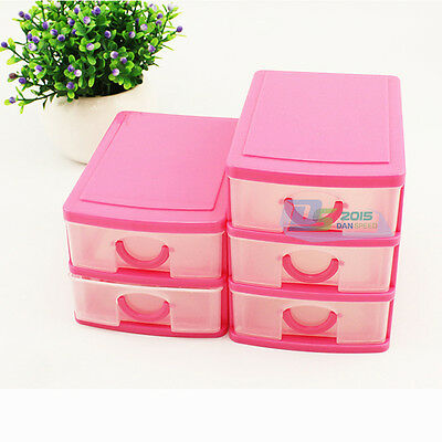 Mini Plastic Makeup Lipstick Jewelry Organizer Holder Box Storage Case Drawers