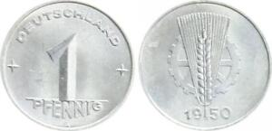 GDR 1 Pfennig 1950 A Prachtexemplar-Stempelglanz (3)