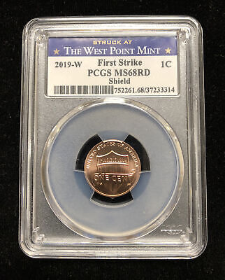 2019 W Lincoln Shield Cent 1c PCGS MS69RD Uncirculated FIRST STRIKE West Point